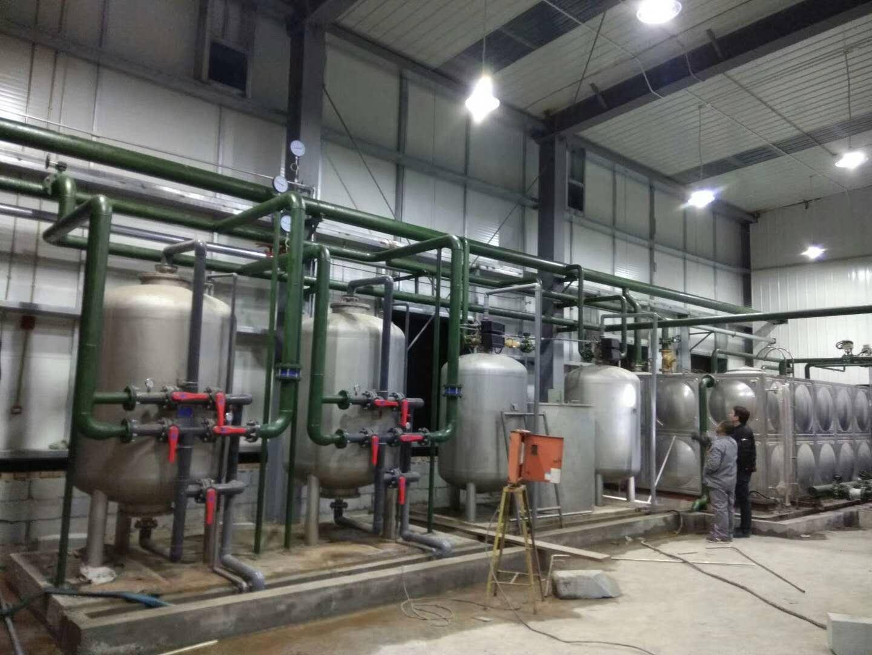 北京马驹桥珠江逸景科技园锅炉房工程软水器、除氧器、不锈钢水箱、分集水器安装完毕,交付使用。